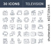 set vector line icons  sign and ... | Shutterstock .eps vector #602710664