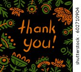 thank you card | Shutterstock .eps vector #602710904