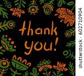 thank you card | Shutterstock .eps vector #602710904