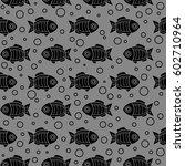 cartoon fish seamless pattern | Shutterstock .eps vector #602710964
