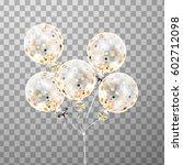 3d vector holiday bunch of... | Shutterstock .eps vector #602712098