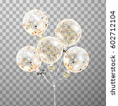3d realistic transparent helium ... | Shutterstock .eps vector #602712104
