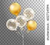 3d  holiday illustration bunch... | Shutterstock . vector #602714594