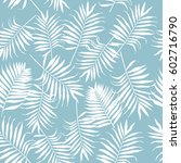 seamless pattern with white... | Shutterstock .eps vector #602716790