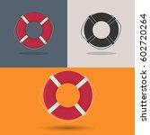 lifebuoy. lifebuoy icons. | Shutterstock .eps vector #602720264