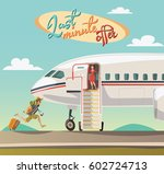 last minute offer for travel | Shutterstock .eps vector #602724713