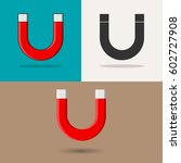 magnet. different icons of... | Shutterstock .eps vector #602727908
