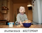 kid with proud look | Shutterstock . vector #602729069