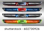 scoreboard broadcast graphic... | Shutterstock .eps vector #602730926