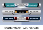 scoreboard broadcast graphic... | Shutterstock .eps vector #602730938