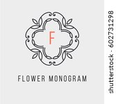 simple and stylish monogram... | Shutterstock .eps vector #602731298