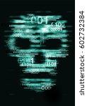 Computer Virus Skull Danger...
