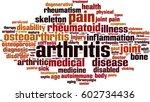 arthritis word cloud concept.... | Shutterstock .eps vector #602734436