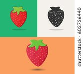 strawberry. icons. icons of... | Shutterstock .eps vector #602736440