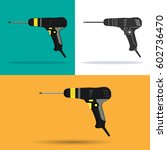 screwdriver. icons. a set of... | Shutterstock .eps vector #602736470