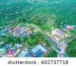 ariel view of home village | Shutterstock . vector #602737718