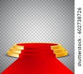 gold round podium with red... | Shutterstock .eps vector #602738726