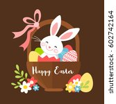 easter bunny in a basket with