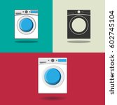 washing machine. icons. a set... | Shutterstock .eps vector #602745104