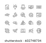 Simple Set of Data Analysis Related Vector Line Icons.  Contains such Icons as Charts, Graphs, Traffic Analysis, Big Data and more. Editable Stroke. 48x48 Pixel Perfect. | Shutterstock vector #602748734