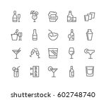 simple set of alcohol related... | Shutterstock .eps vector #602748740