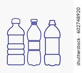 bottle icon. flat isolated... | Shutterstock .eps vector #602748920