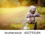 little angel at cemetery  rear... | Shutterstock . vector #602755184