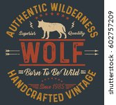 authentic wilderness ... | Shutterstock .eps vector #602757209