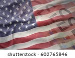 colorful waving national flag... | Shutterstock . vector #602765846