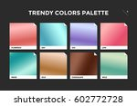set of colorful trendy gradient ... | Shutterstock .eps vector #602772728