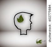 eco head  organic  natural | Shutterstock .eps vector #602775884