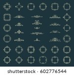 huge rosette wicker border... | Shutterstock .eps vector #602776544