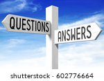 questions  answers   wooden... | Shutterstock . vector #602776664