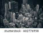 midtown skyscraper buildings... | Shutterstock . vector #602776958