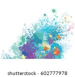 frame from paint stains | Shutterstock .eps vector #602777978