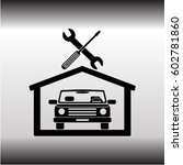 car in the garage icon ... | Shutterstock .eps vector #602781860