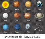 the sun and planets of the... | Shutterstock .eps vector #602784188