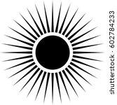 radiating circular lines... | Shutterstock .eps vector #602784233