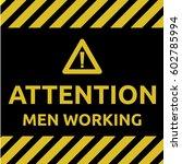 men working sign | Shutterstock .eps vector #602785994