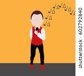 singer in flat design | Shutterstock .eps vector #602792840