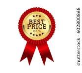 best price medal illustration... | Shutterstock .eps vector #602800868