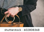 close up fashion details  young ... | Shutterstock . vector #602808368