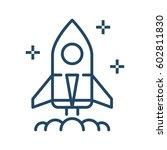 rocket launcher start up vector ... | Shutterstock .eps vector #602811830