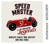 racing car t shirt graphics  ... | Shutterstock .eps vector #602812859