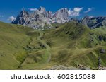 marmolada mountain massif with... | Shutterstock . vector #602815088