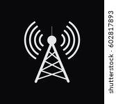 antenna.vector icon. radio... | Shutterstock .eps vector #602817893