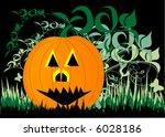 pumpkin on grass | Shutterstock .eps vector #6028186