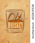 poster glass lettering old... | Shutterstock .eps vector #602819528