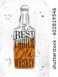 poster bottle lettering the... | Shutterstock .eps vector #602819546