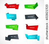 vector stickers  price tag ... | Shutterstock .eps vector #602821520